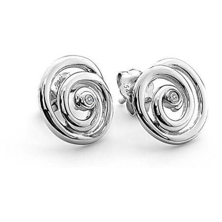 Hot Diamonds Náušnice Eternity Spiral Stud DE306 striebro 925/1000
