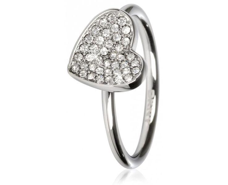 DKNY Ocelový prsten se srdíčkem NJ1995040 (Obvod 60 mm)