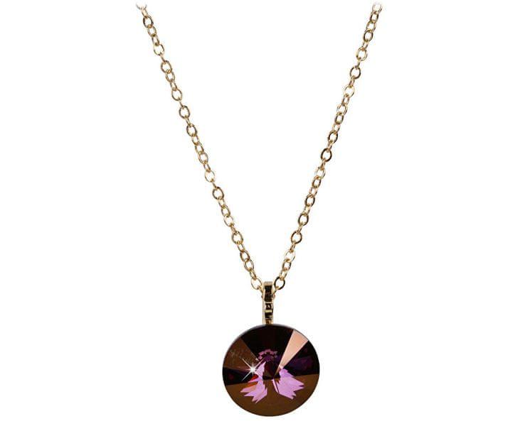 Troli Zlatý náhrdelník Rivoli Lilac Shadow