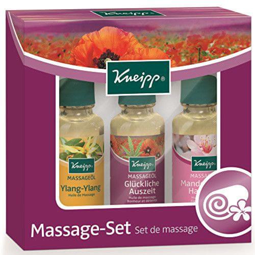 Kneipp Dárková kazeta masážních olejů 3 x 20 ml