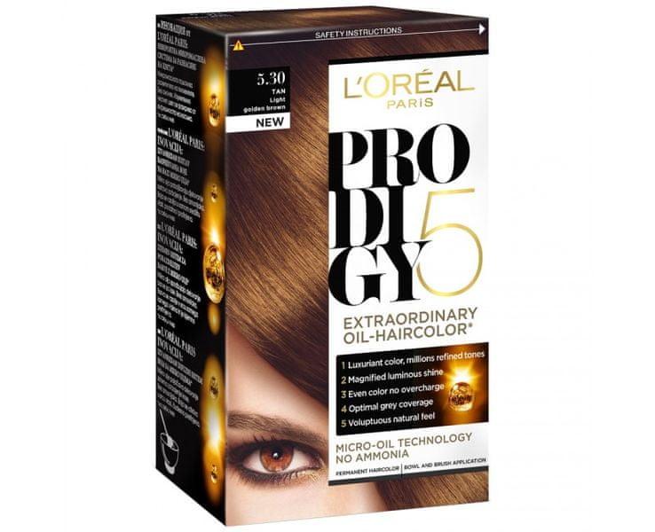 L'Oréal Olejová barva na vlasy Prodigy 5 (Odstín 4.15 ledová čokoládová)