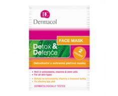 Dermacol Detoxikační a ochranná pleťová maska Detox & Defence 2 x 8 ml