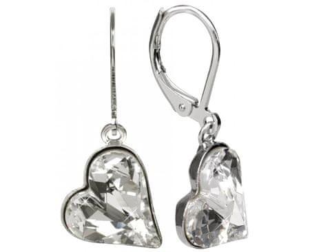 Troli Náušnice Sweet Heart 13 mm Crystal