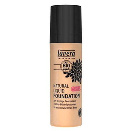 Lavera Přírodní a organický fluidní make-up (Natural Liquid Foundation) 30 ml (Odstín 06 mandle - karamelov