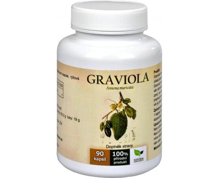 Natural Medicaments Graviola anona (Annona muricata) 90 kapslí