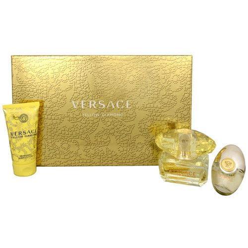 Versace Yellow Diamond - EDT 50 ml + tělové mléko 50 ml + EDT 10 ml