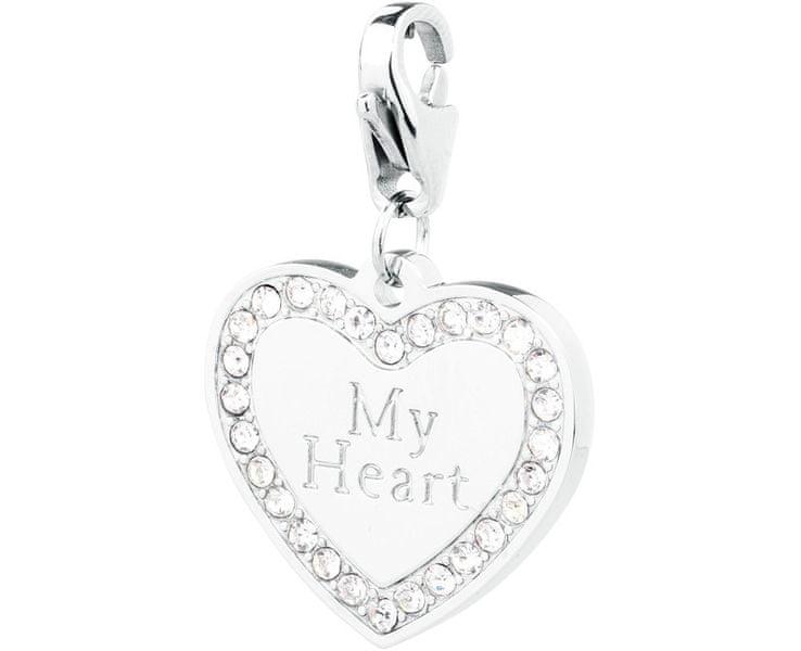 S'Agapõ Zamilovaný přívěsek My Heart Happy SHA61