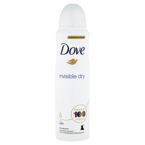 Dove Antiperspirant ve spreji Invisible Dry (Objem 150 ml)