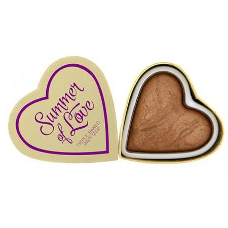 Makeup Revolution Srdcový bronzer Leto I LOVE MAKEUP (Hearts Bronzer Love Hot Summer) 10 g