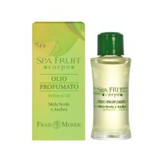 Frais Monde Parfémovaný olej Zelené jablko a ambra (Spa Fruit Green Apple And Amber) 10 ml