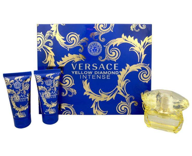 Versace Yellow Diamond Intense EDP 50 ml + sprchový gel 50 ml + tělové mléko 50 ml