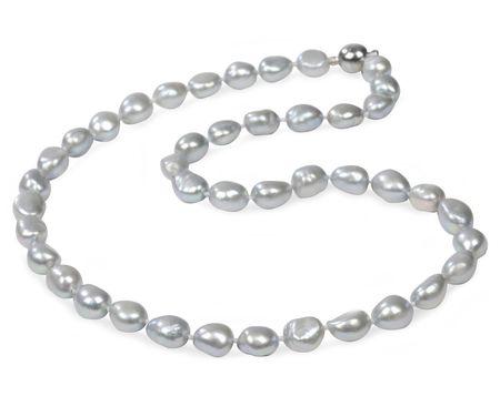 JwL Luxury Pearls Náhrdelník z šedostrieborných perál JL0067