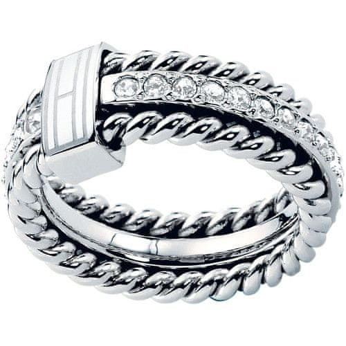 Tommy Hilfiger Nádherný prsten s krystaly TH2700582 (Obvod 56 mm)