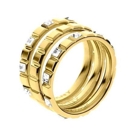 DKNY Zlatý skladacie prsteň NJ2120710 (Obvod 56 mm)