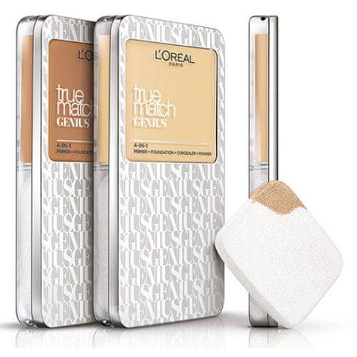 L'Oréal Kompaktní make-up 4 v 1 True Match Genius 7 g (Odstín 1.5.N Linen)