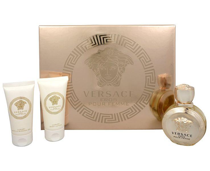Versace Eros Pour Femme - EDP 50 ml + tělové mléko 50 ml + sprchový gel 50 ml