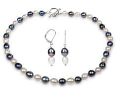 JwL Luxury Pearls Souprava náhrdelníku a náušnic s pravými perlami JL0162 stříbro 925/1000