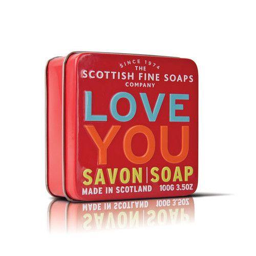 Scottish Fine Soap Mýdlo v plechu I love you 100 g