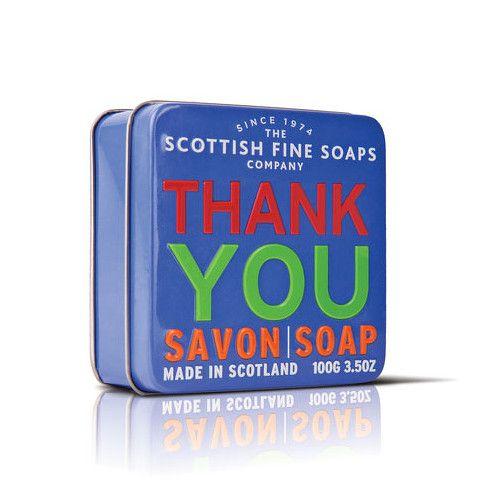Scottish Fine Soap Mýdlo v plechu Thank you 100 g