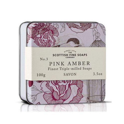 Scottish Fine Soap Mýdlo v plechu Růžová ambra 100 g