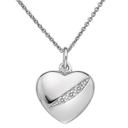 Hot Diamonds Strieborný náhrdelník Hot Diamonds Shooting Stars Heart DP398 striebro 925/1000