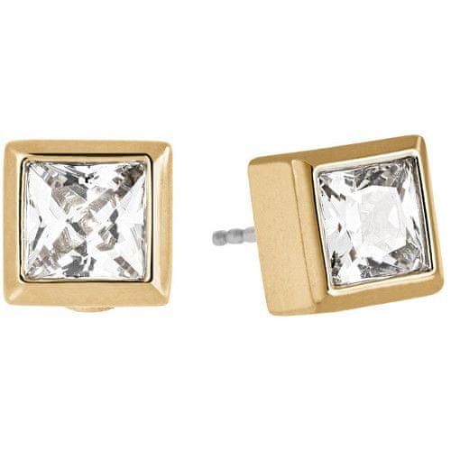 Michael Kors Zlaté náušnice pecky s krystaly MKJ4707710