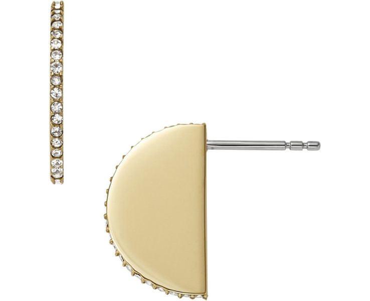 Fossil Pozlacené náušnice s krystaly JF01835710