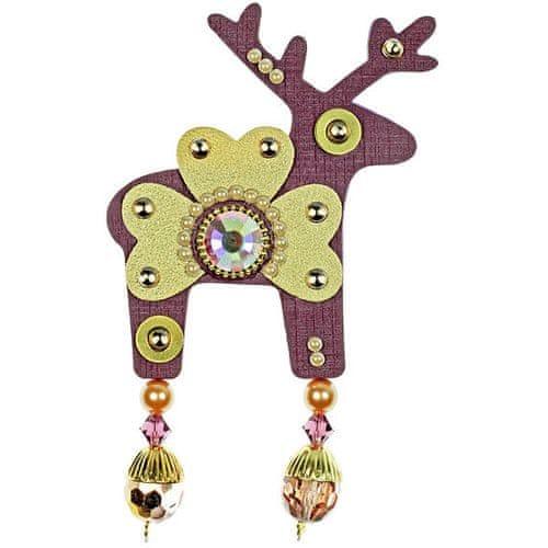 Deers Velký fialovo-zlatý jelínek Marvis