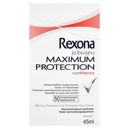Rexona Tuhý deodorant Women Maximum Protection Confidence 45 ml