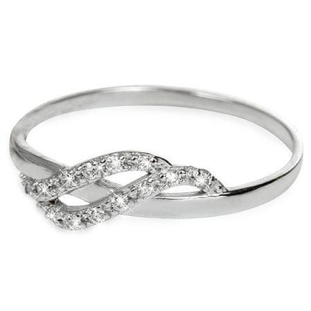 Brilio Prsten z bílého zlata s krystaly 229 001 00698 07 (Obvod 58 mm)