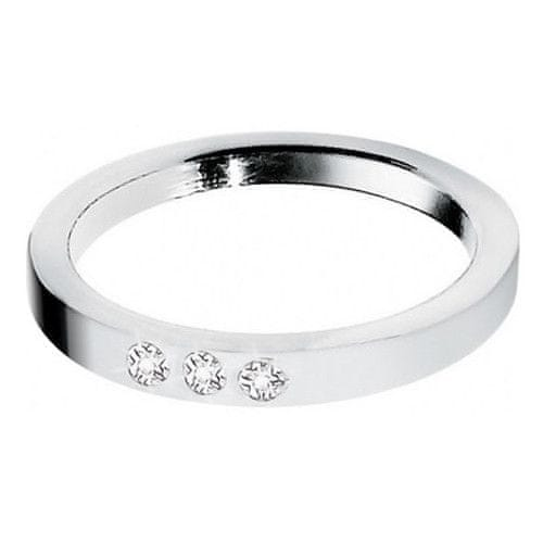 Morellato Ocelový prsten s diamanty Love Rings S8530 (Obvod 56 mm)
