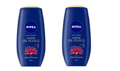 Nivea gel za prhanje Creme Oil Pearls Cherry Blossom, 250 ml, 2 kosa