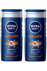 Nivea gel za prhanje Sport, 2 kosa