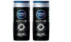 Nivea gel za prhanje Active Clean, 250 ml, 2 kosa