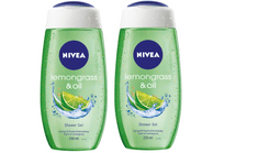 Nivea gel za prhanje Lemongrass & Oil, 250 ml, 2 kosa