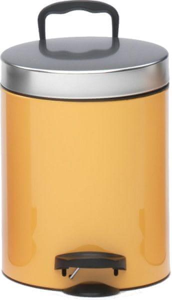 Meliconi Pedal Bin 5 l, oranžová