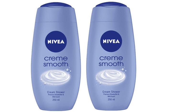 Nivea Sprchový gel Creme Smooth 250 ml 2 ks