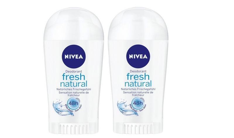 Nivea Tuhý deodorant Fresh Natural 40 ml 2 ks