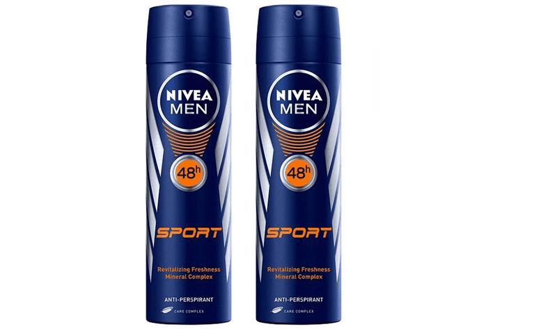 Nivea Antiperspirant ve spreji pro muže Sport (Antiperspirant) 150 ml 2 ks