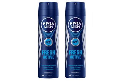 Nivea dezodorant v spreju Fresh Active, 150 ml, 2 kosa