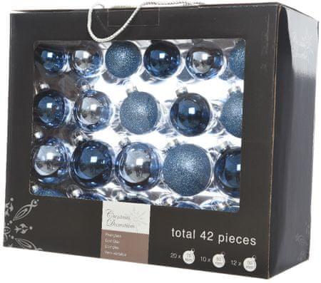 Kaemingk Vánoční ozdoby koule 42 ks, modrá