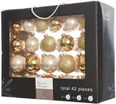 Kaemingk Božični okraski bunke 42 kosov, biserna/zlata
