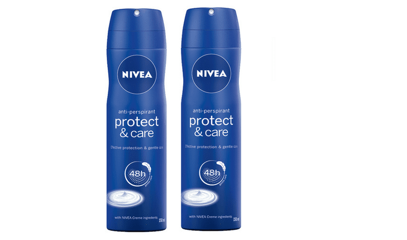 Nivea Antiperspirant ve spreji Protect & Care 150 ml-2 ks