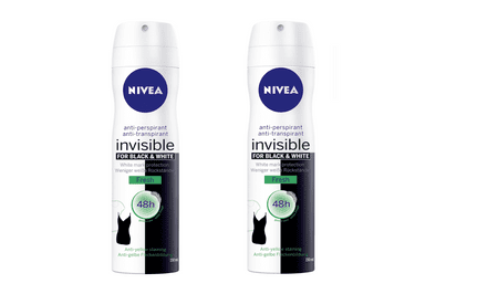 Nivea Antiperspirant ve spreji Invisible For Black & White Fresh 150 ml 2 ks