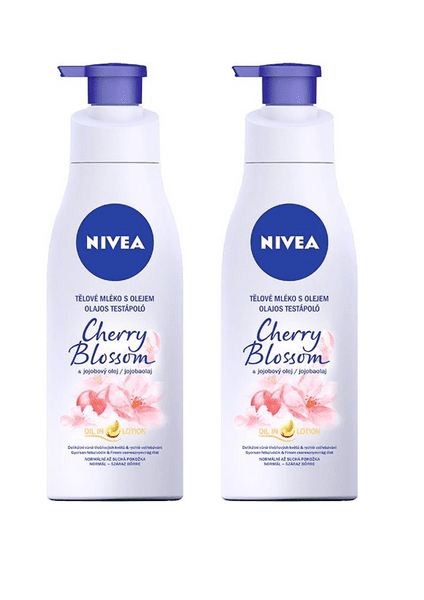 Nivea Hydratační tělové mléko Cherry Blossom 200 ml 2 ks