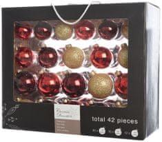 Kaemingk Božični okraski bunke 42 kosov, rdeča/zlata