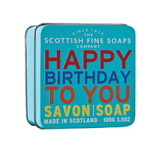 Scottish Fine Soap Mýdlo v plechu Vše nejlepší 100 g