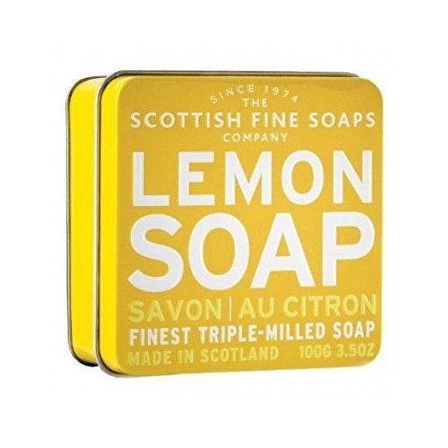 Scottish Fine Soap Osvěžující mýdlo v plechu Citrón 100 g
