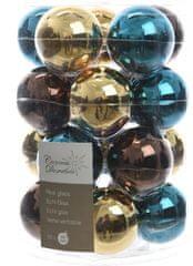 Kaemingk Božični okraski bunke 20 kosov, modra/zlata