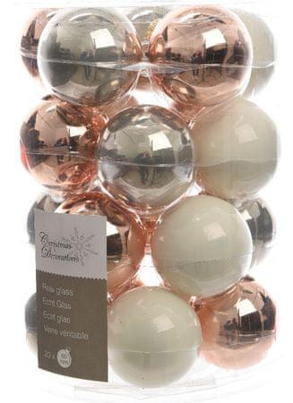 Kaemingk Božični okraski bunke 20 kosov, bela/roza